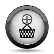 Add to basket icon. Internet button on white background.. Stock Illustration