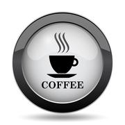 Coffee cup icon. Internet button on white background.. Stock Illustration