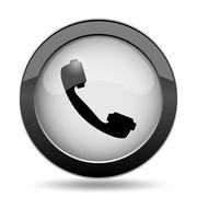 Phone icon. Internet button on white background.. Stock Illustration