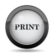 Print icon. Internet button on white background.. Stock Illustration