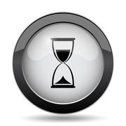 Hourglass icon. Internet button on white background.. Piirros