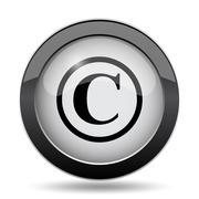 Copyright icon. Internet button on white background.. Stock Illustration