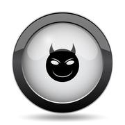 Evil icon. Internet button on white background.. Stock Illustration