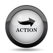 Action icon. Internet button on white background.. Stock Illustration