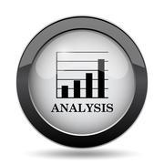 Analysis icon. Internet button on white background.. Stock Illustration