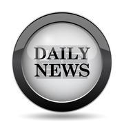Daily news icon. Internet button on white background.. Stock Illustration