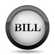 Bill icon. Internet button on white background.. Stock Illustration