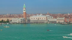 Traffic of boats in the Venetian lagoon Stock Footage