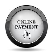 Online payment icon. Internet button on white background.. Stock Illustration