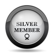 Silver member icon. Internet button on white background.. Stock Illustration