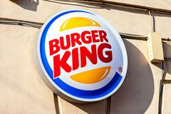 Burger King Restaurants logo Stock Photos