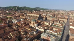 Aerial view from Asinelli tower in Bologna Stock Footage