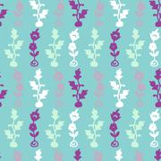 Vintage Vector hand-drawn seamless pattern with ethnic east floral ornament Stock Illustration