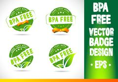 Bpa free Badge Logo Vector Stock Illustration