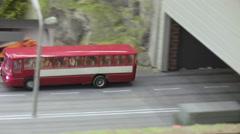 Passenger bus on the bridge Stock Footage