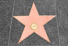 Star on the walk of fame with copy space Stock Photos