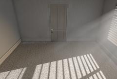 Morning Sunlight Empty Room Stock Illustration