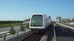 Subway train in Copenhagen - Denmark Stock Footage