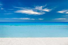 Empty sea and beach background with copy space Stock Photos
