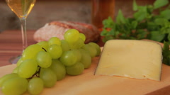 Cheese with white wine Stock Footage
