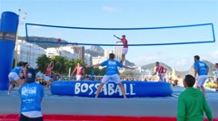 Bossaball Game Stock Footage