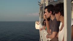 Friends Enjoying the Sea View 4K Stock Footage