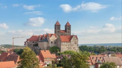 Castle and church in Quedlinburg Stock Footage