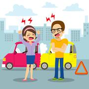 Car Accident Argument Stock Illustration