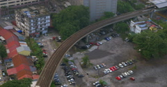 Overground railway in Kuala Lumpur, Malaysia Stock Footage