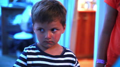 Little boy is sad, crying Stock Footage