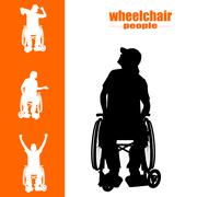 Wheelchair people Stock Illustration