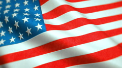 United States of America Flag Video - Windy USA Flag Stockfootage Stock Footage
