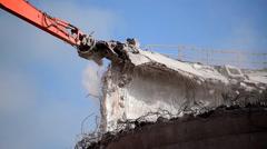 Mechanical Demolition Stock Footage