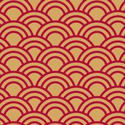 Seamless wave japanese pattern Stock Illustration