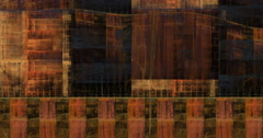 4K abstract geometric grunge texture motion background seamless looping fractal Stock Footage