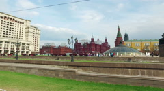 View of the Moscow Kremlin and the Manege Square Stock Footage