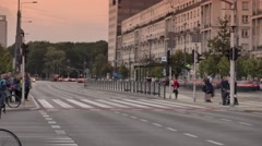 Traffic Time Lapse. European capitol day traffic.4k footage. Stock Footage