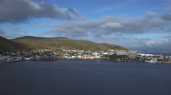 Northernmost city view, Honningsvag - Scandinavian landscape Stock Footage