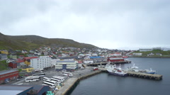 Northernmost Norwegian city, Honningsvag Stock Footage
