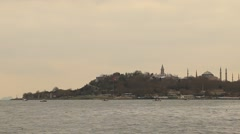View of the coastal historic district of Fatih in Istanbul Stock Footage