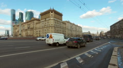 View of the traffic on Kutuzov Avenue Stock Footage