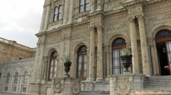 Beautiful Dolmabahce sultan palace in Istanbul Turkey Stock Footage
