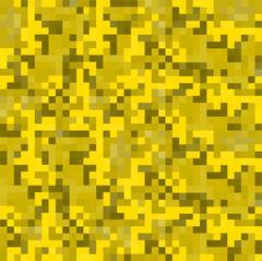 Modern pixel camouflage desert pattern. Stock Illustration