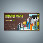 Remodel tools backdrops banner templates. Stock Illustration