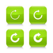 Green arrow refresh, reload, rotation, repeat icon Stock Illustration