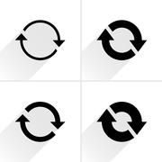 Arrow icon reload, rotation, reset, repeat sign Stock Illustration