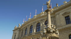 Rudolfinum Hall in Prague Stock Footage