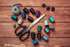 Items for sewing or DIY Stock Photos