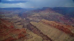 Colorado River, the Rock Layers and a Storm at the Grand Canyon Stock Footage