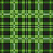 Seamless green tartan-black squares, white stripes Stock Illustration
